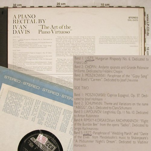 Davis,Ivan: Recital by,Art of the PianoVirtuoso, Decca,Promo-Stol(SXL 6415), UK, 1969 - LP - L4116 - 6,00 Euro