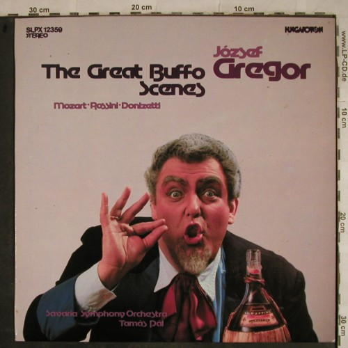 Gregor,Jozsef: The Great Buffo Scenes, Hungaroton(SLPX 12359), HU, 1982 - LP - L4141 - 7,50 Euro