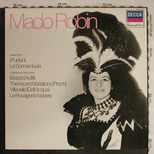 Robin,Mado: Arias from I Puritani...Coloratura, Decca(411 923-1), D, m-/vg+,  - LP - L4159 - 7,50 Euro