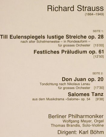 Strauss,Richard: Till Eulenspiegel/Festl.Präludium, D.Gr. Resonance(2535 208), D, 1963 - LP - L416 - 5,00 Euro