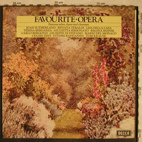 V.A.Favorite Opera: Joan Sutherland...Tom Krause, Foc, Decca(DPA 507/8), UK,  - 2LP - L4256 - 5,00 Euro