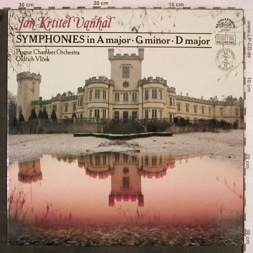 Vanhal,Jan Krittel: Symphonies in A-major,Gminor,Dmajor, Supraphon(11 0756-1), CZ, 1990 - LP - L4278 - 6,00 Euro