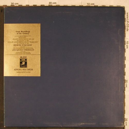 Fischer,Edwin & Jacques Thibaud: Mozart, Piano C. No.20,Nr.5 Turkish, EMI Angel(GR-2159), J,  - LP - L4386 - 9,00 Euro
