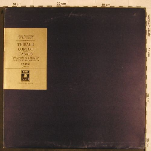 Thibaud,Jacques / Cortot / Casals: Violin Sonata No.9, 7 Variat..Beeth, EMI Angel(GR-2051), J,  - LP - L4410 - 9,00 Euro