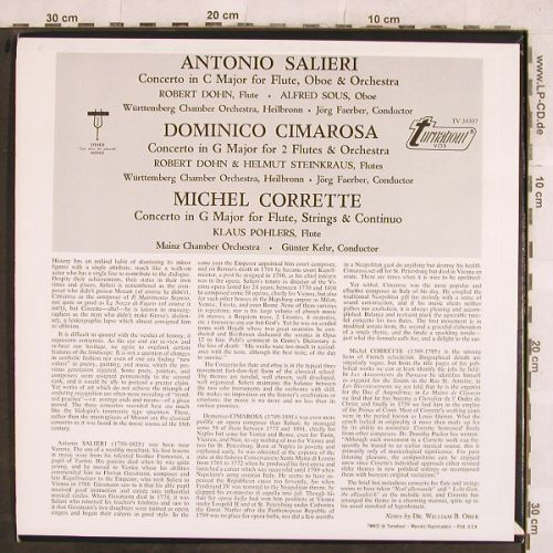 Salieri,Antonio/Cimarosa/M.Corrette: Concerto in c Major f.Flute,Oboe,Or, Turnabout Vox(TV 34 307), US,  - LP - L4425 - 6,00 Euro