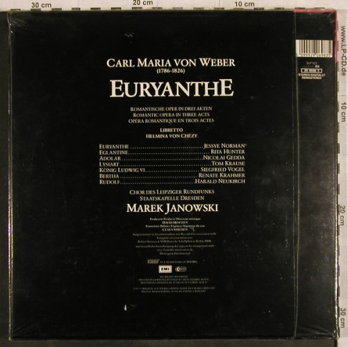 Weber,Carl Maria von: Euryanthe(75), Box, FS-New, EMI(29 0698 3), D, Ri, co, 1986 - 4LP - L4478 - 15,00 Euro