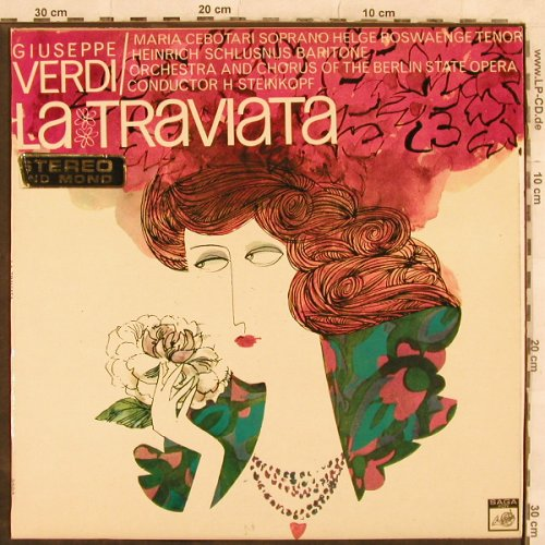 Verdi,Giuseppe: La Traviata-Highlights, SAGA, spielt gut(FID 2104), UK, vg+/m-, 1967 - LP - L4485 - 5,00 Euro