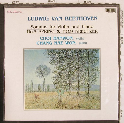 Beethoven,Ludwig van: Sonatas for Violin&Piano,No 5, 9, Cantabile,FS-New(SXCR-009), Korea, 1989 - LP - L4563 - 125,00 Euro