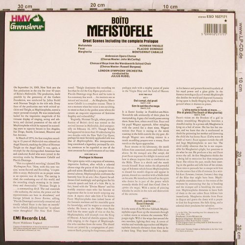 Boito,Arrigo: Mefistoteles-Great Scenes from, EMI(ESD 1027171), UK, 1984 - LP - L4564 - 5,50 Euro