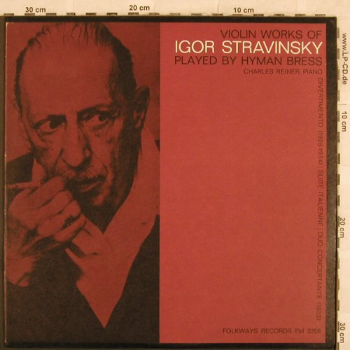 Strawinsky,Igor: Violin Works of, Folkways(FM 3356), US,  - LP - L4581 - 9,00 Euro