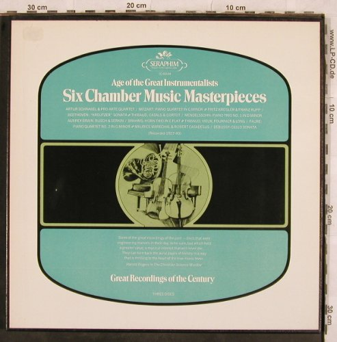 V.A.Age of the Great Instrumentalis: Six Chamber Music Masterpieces, Seraphim(IC-6044), US,  - 3LP - L4617 - 9,00 Euro