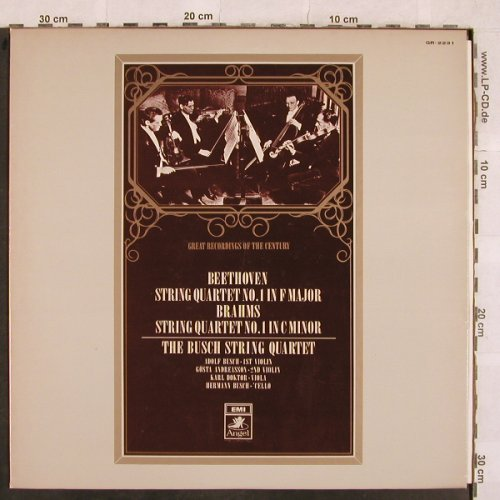 Beethoven,Ludwig van / Brahms: String Quartet No.1 in F Major/Nr.1, Angel(GR-2231), J,  - LP - L4641 - 20,00 Euro