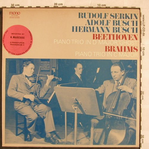 Beethoven,Ludwig van/ Brahms: Piano Trio in D Major,Ghost, Odyssey/CBS-InportStoc(32 16 0361), US,  - LP - L4696 - 12,50 Euro
