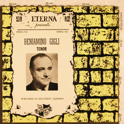 Gigli,Benjamino: Tenor - Re-Recorded, Eterna(732), US,  - LP - L4730 - 6,00 Euro