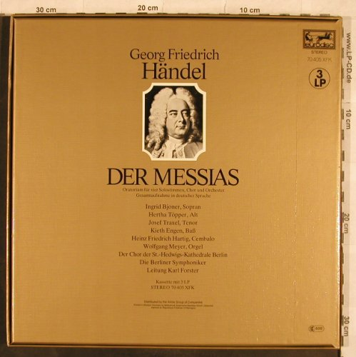Händel,Georg Friedrich: Der Messias, Box, Eurodisc(70 405 XFK), D, 1980 - 3LP - L4872 - 7,50 Euro