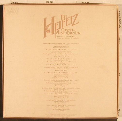 Heifetz,Jascha: Chamber Music Collection, RCA Red Seal(CRM6-2264), US, 1977 - 6LP - L4877 - 50,00 Euro