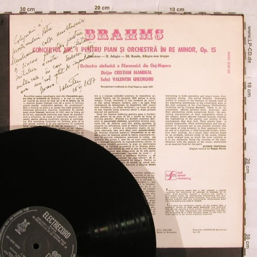 Brahms,Johannes: Concerto No.1 for Piano and Orch., Electrecord(ST-ECE 03404), RO, 1984 - LP - L4887 - 12,50 Euro