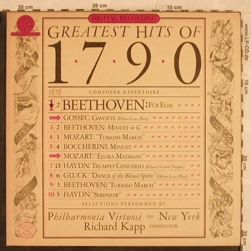 V.A.Greatest Hits of 1790: Beethoven, Mozart, Haydn...10 Tr., CBS(CBSD 35 858), NL, 1980 - LP - L4903 - 5,00 Euro