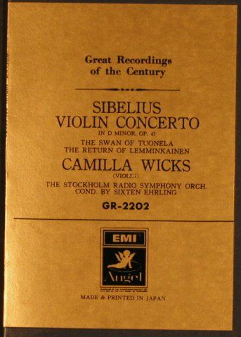 Sibelius,Jean: Violin Concerto in d minor op.47, EMI Angel(GR-2202), J, m /vg+,  - LP - L4945 - 20,00 Euro