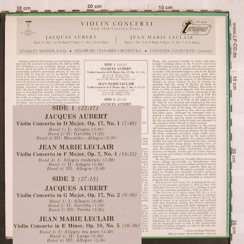 Aubert,Jacques / Jean Marie Leclair: Violin Concerti, op.17 Nr.1/op.7,10, Turnabout Vox(TV 34212), US,  - LP - L4959 - 7,50 Euro