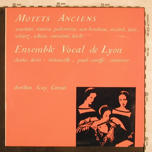 Ensemble Vocal de Lyon: Motets Anciens,Scarlatti...J.S.Bach, (3241), F, 1972 - LP - L5053 - 9,00 Euro