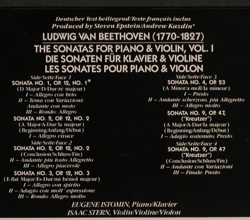 Beethoven,Ludwig van: The Sonatas for Piano&Violin, Vol.1, CBS(12M 39680), NL, m-/vg+,  - 2LP - L5098 - 7,50 Euro