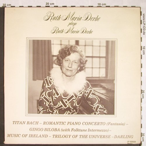 Derbe,Ruth Maria: plays R.M.Derbe - Titan Bach, Trutone Records(520525), US,vg+/m-, 1979 - LP - L515 - 7,50 Euro