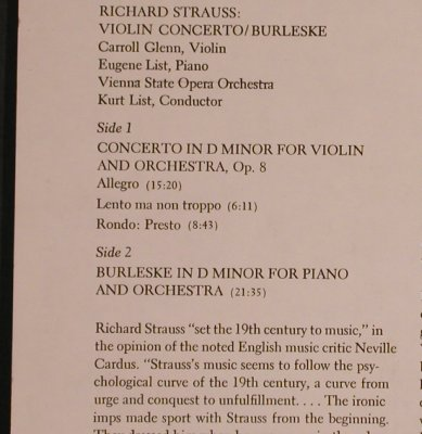 Strauss,Richard: Violin Concerto / Burleske, Columbia(32 16 0312), US, m/vg+,  - LP - L5205 - 7,50 Euro