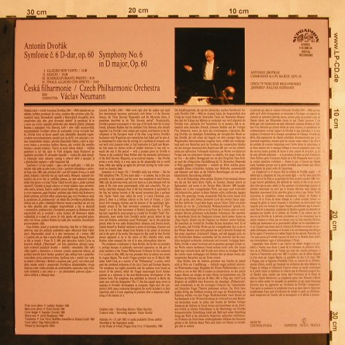 Dvorak,Antonin: Symphony No.6 in D minor, op.60, Supraphon(1110 3408 ZA), CZ, 1984 - LP - L5304 - 7,50 Euro
