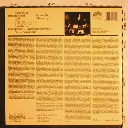 Dvorak,Antonin: Symphony No.4 in D minor, op.13, Supraphon(10 3858-1), CZ, 1986 - LP - L5306 - 7,50 Euro