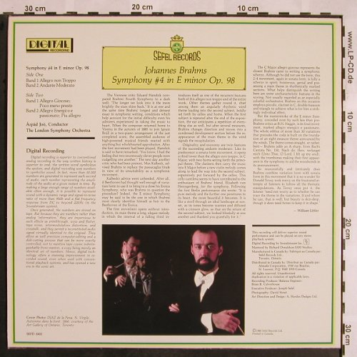 Brahms,Johannes: Symphony No.4 in E minor op.98, Sefel(SEFD 5002), CDN, 1980 - LP - L5343 - 7,50 Euro