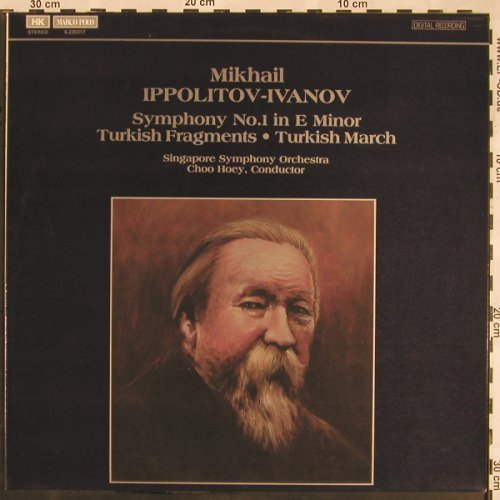 Ippolitov-Ivanov,Mikhail: Symphony No.1/Turkish Fragments, HK Marco Polo(6.220217), Hong Kong, 1984 - LP - L5394 - 12,50 Euro