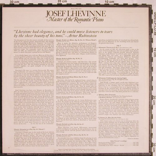 Lhevinne,Josef: Master of the Romantic Piano, RCA Victrola(VIC-1544), US, 1970 - LP - L5409 - 9,00 Euro