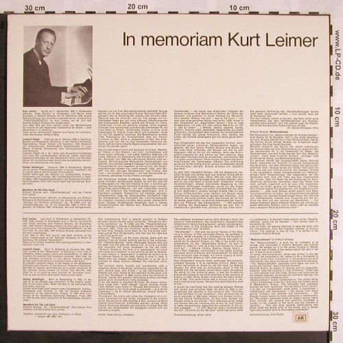 Leimer,Kurt (Richard Strauss): In Memoriam,Panthenäenzug,Metam., Colosseum(SM 562), D,  - LP - L5535 - 17,50 Euro
