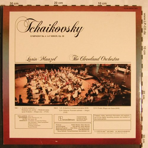 Tschaikowsky,Peter: Symphony No.4 in F minor,op.36, Telarc(10047), US, Foc, 1979 - LPQ - L5583 - 9,00 Euro