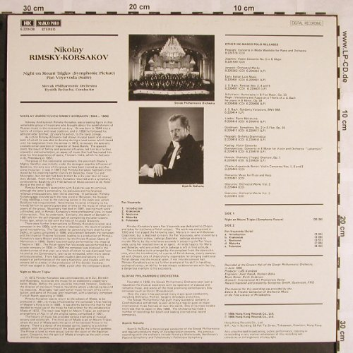 Rimsky-Korsakov,Nicolai: Night on Mount Triglav/Pan Voyevoda, Marco Polo(6.220438), Hong Kong, 1986 - LP - L5600 - 12,50 Euro