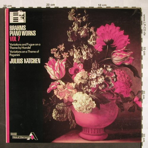 Brahms,Johannes: Piano Works, Vol.7-Julius Katchen, Age of Diamonds/Decca(SDD 538), UK,Ri 1979, 1965 - LP - L560 - 5,00 Euro