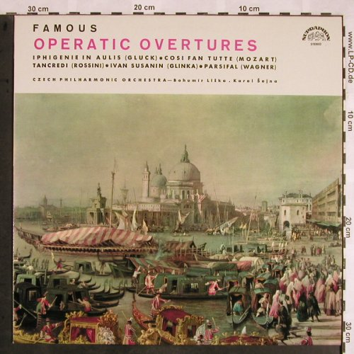 V.A.Famous Operatic Overtures: Cosi Fan Tutte...Parsifal,prelude, Supraphon(50 569 G), CZ,  - LP - L5612 - 6,00 Euro