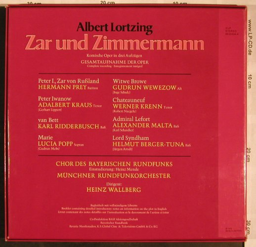 Lortzing,Albert: Zar und Zimmermann, Box, BASF(59 22424-4), D, 1976 - 3LP - L5721 - 12,50 Euro