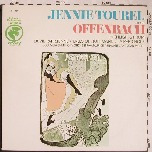 Tourel,Jennie: sings Offenbach, woc, stoc, Odyssey(32 16 0351), US,  - LP - L5801 - 6,00 Euro