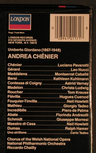 Giordano,Umberto: Andrea Chenier,Box, Stoc, London(410 117-1), UK, CO, 1984 - 3LP - L5831 - 9,00 Euro