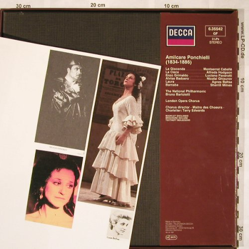 Ponchielli,Amilcare: La Gioconda,Box, Sticker on Bookl., Decca(6.35542 GF), D, 1981 - 3LP - L5836 - 9,00 Euro