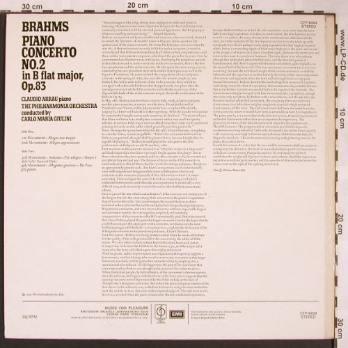 Brahms,Johannes: Piano Concerto No.2, Classics for Pleasure(CFP 40034), UK,Ri, 1963 - LP - L5939 - 6,00 Euro