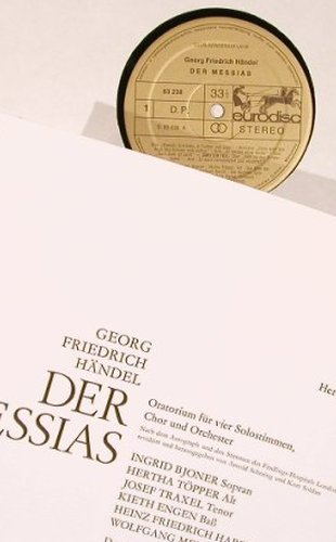 Händel,Georg Friedrich: Messias, Box, Club-Ed., Eurodisc(63 236), D,  - 3LP - L5987 - 7,50 Euro