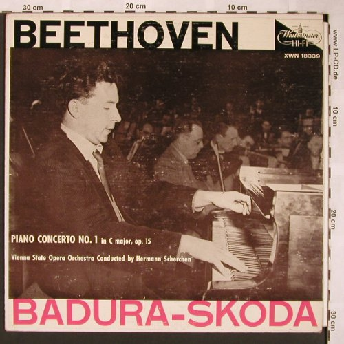 Beethoven,Ludwig van: Piano Concerto No.1 i.C minor,op.15, Westminster(XWN 18339), US, VG+/vg,  - LP - L6063 - 3,00 Euro