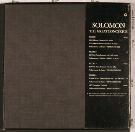 Solomon: The Great Concertos, Box, m-/vg+, EMI(SLS 5094), UK,  - 4LP - L6224 - 12,50 Euro