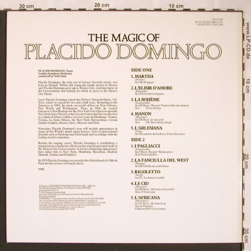 Domingo,Placido: The Magic Of, Camden(CDS 1209), UK, 1982 - LP - L6263 - 5,00 Euro