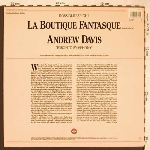 Rossini,Gioacchino - Respighi: La Boutique Fantastque, CBS Masterworks(35 842), UK, 1981 - LP - L6375 - 6,00 Euro