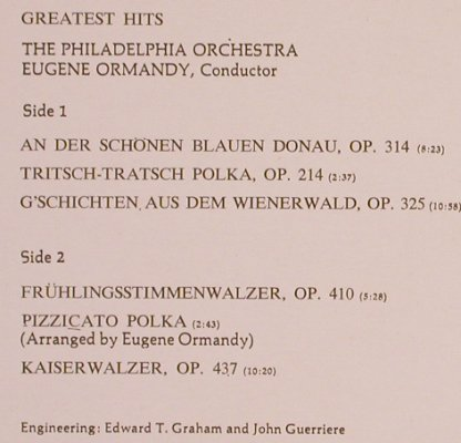Strauss,Johann: Greatest Hits, CBS(S 30 002), NL, 1971 - LP - L6393 - 3,00 Euro