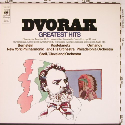 Dvorak,Antonin: Greatest Hits, CBS(S 30 012), NL, 1971 - LP - L6401 - 3,00 Euro